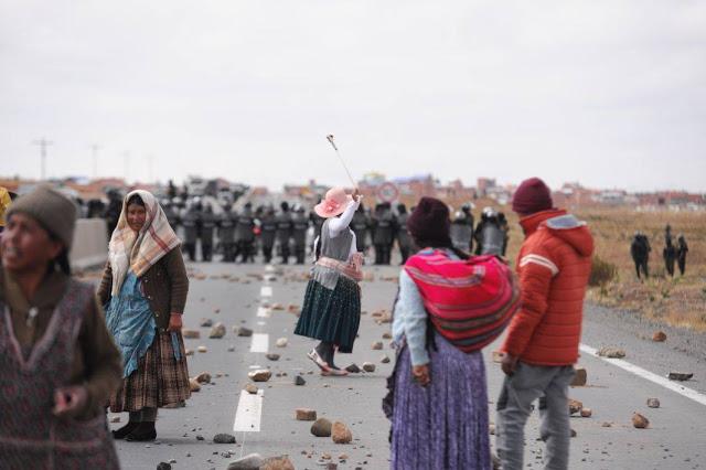 La Intervención del bloqueo de Achacachi en imágenes