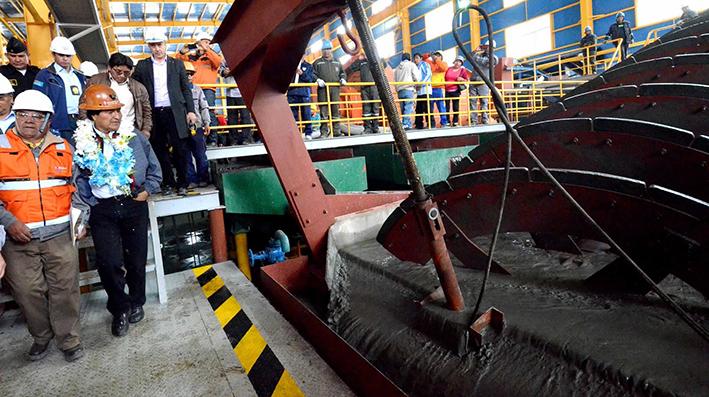 Dirigente minero confirma colapso del nuevo ingenio de Huanuni inaugurado por Evo Morales