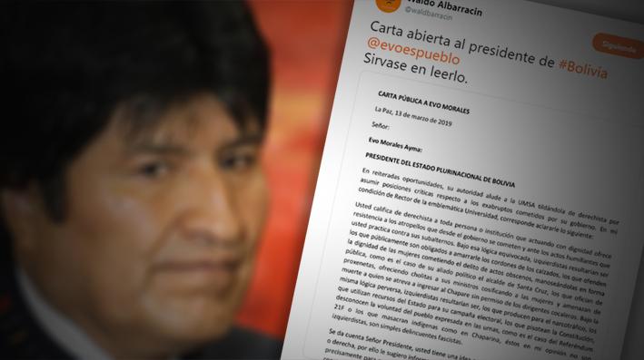 El Rector de la UMSA le dice a Evo Morales que «no hace daño leer de vez en cuando un texto»