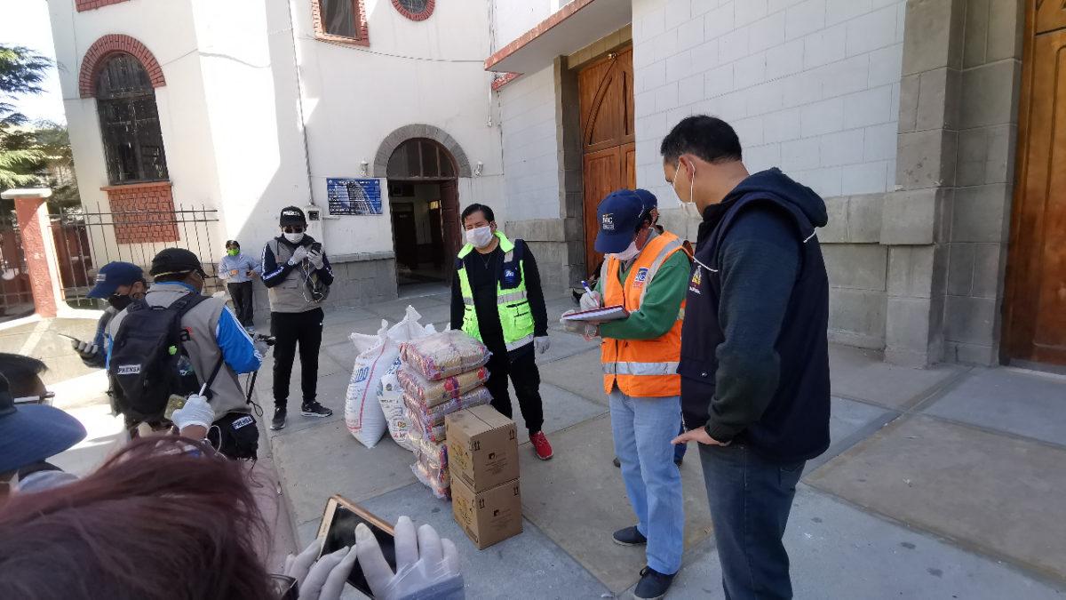 ABC colabora a familias necesitadas y personas en situación de calle en Oruro