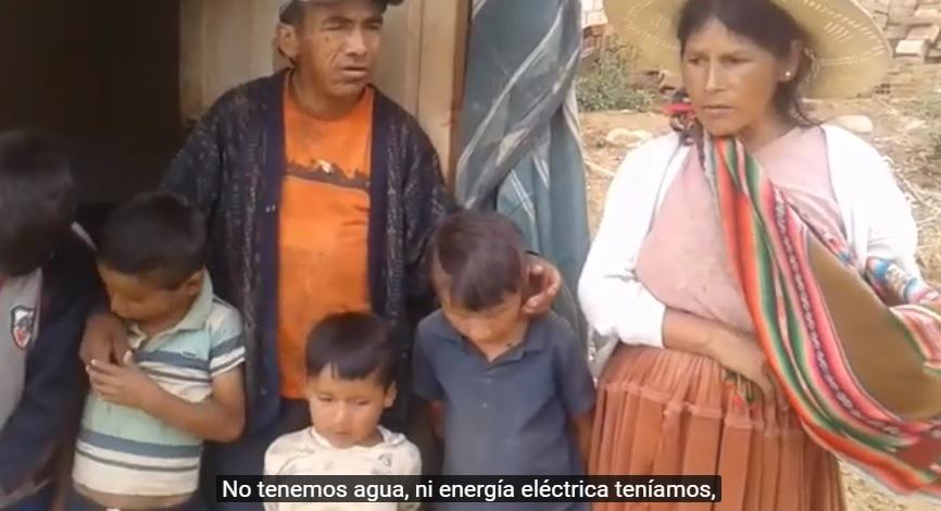 """""""No tenemos agua, vivimos en alquiler y mi esposo no trabaja (por la cuarentena); yanapariwuaychej"""""""