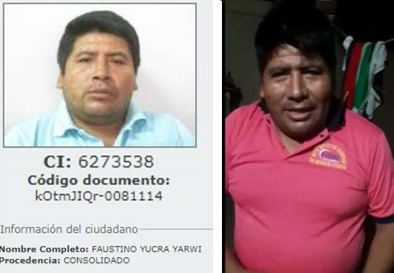 Fiscal de Chuquisaca confirma que Faustino Yucra fue aprehendido en Tarabuco