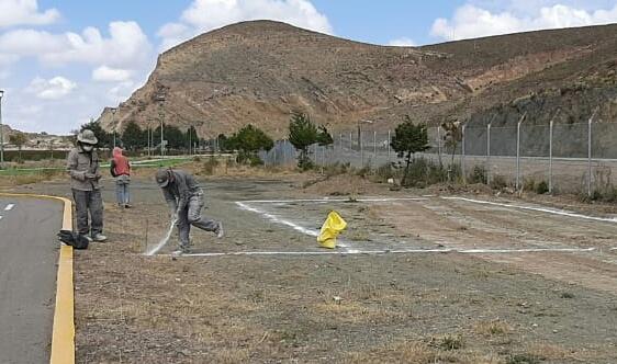 En Oruro, El Choro inició la construcción del bloque C: área de control y vigilancia