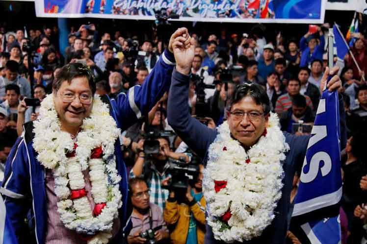 TSE: Al 100% del cómputo, Luis Arce y David Choquehuanca ganan las elecciones generales con el 55,10% de la preferencia de los votos