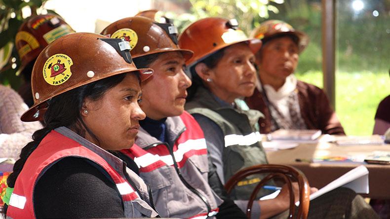 Mujeres mineras demandarán un censo y políticas para su sector a candidatos