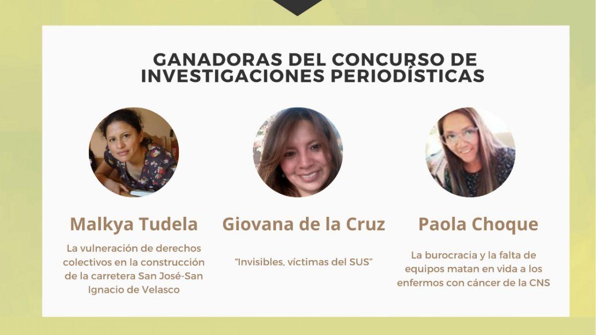 Malkya Tudela, Giovana de la Cruz y Paola Choque ganan las subvenciones de UNITAS para investigaciones periodísticas
