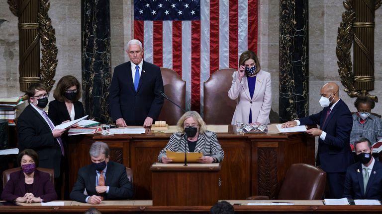 El Congreso de EE. UU. ratificó la victoria del demócrata Joe Biden