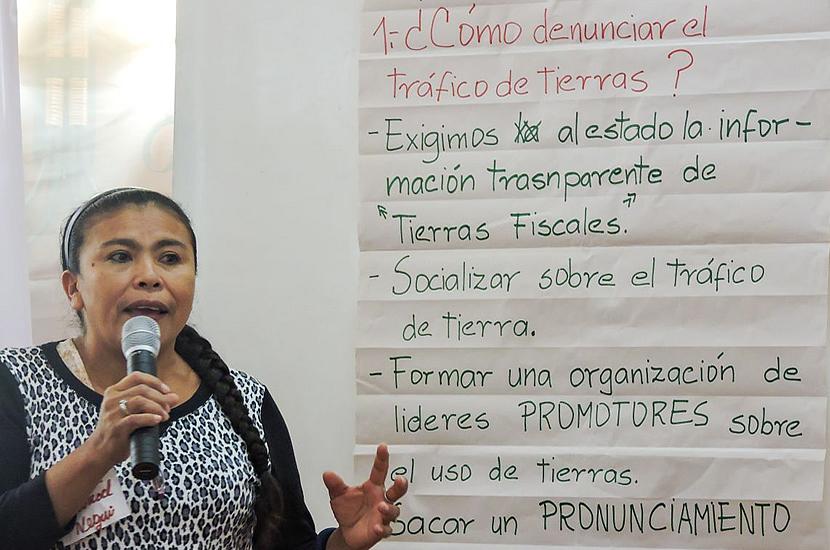 Promotores del desarrollo sostenible condenan el tráfico de tierras