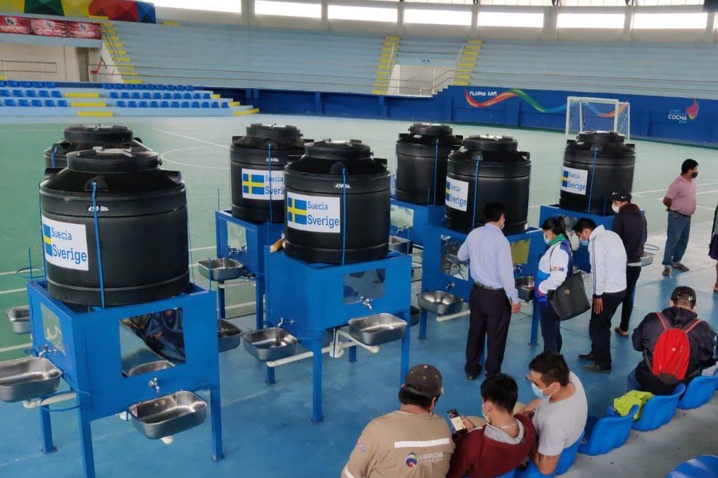 UNICEF entrega 27 estaciones de lavado de manos para unidades educativas de tres municipios del Chapare