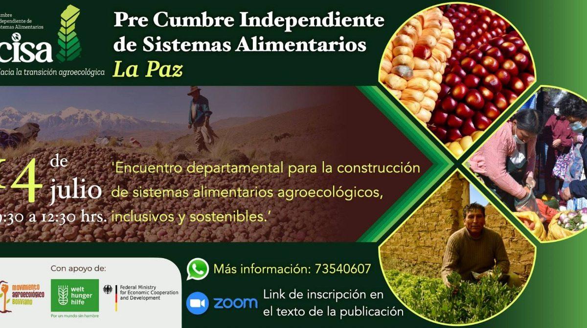 Pre cumbre: La Paz debate sus propuestas de sistemas alimentarios sostenibles