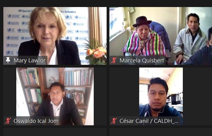 Avasallamientos: Relatora de Defensores de DDHH de la ONU recibe en audiencia a indígenas del pueblo Mosetén y de Zongo