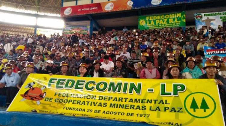 Cooperativas mineras de La Paz sellan Pacto de Unidad exigiendo atención a trece demandas