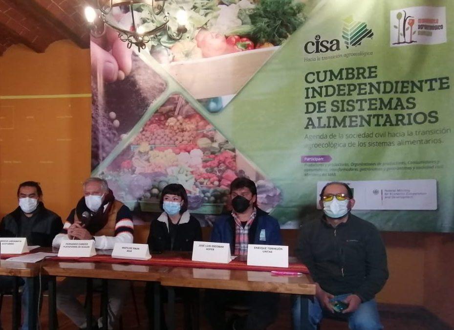 Productores y sociedad civil buscan alternativas de sistemas alimentarios sostenibles para enfrentar contrabando y cambio climático en el país