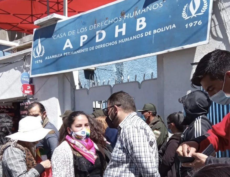 Observatorio de Defensores alerta asedio a la APDHB por nuevo intento de toma por personas afines al MAS